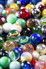 Marbles up close for a background