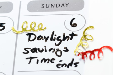 daylight savings time -ends