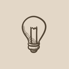 Lightbulb sketch icon.