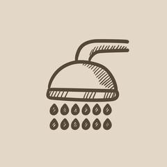 Shower sketch icon.