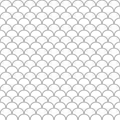 simple seamless pattern fish scales