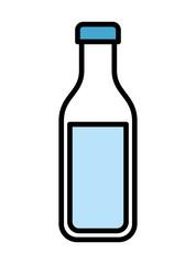 bottle milk  isolated icon design