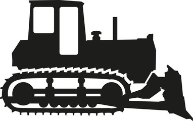 Wall Mural - Bulldozer icon