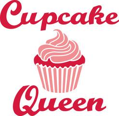 Cupcake queen retro style