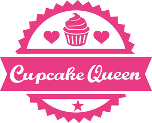 Cupcake queen button