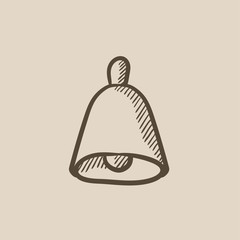 Wedding bell sketch icon.