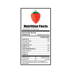 nutrition facts strewberry illustration