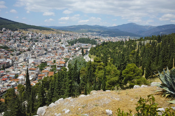 Amazing panorama of Lamia City, Central Greece