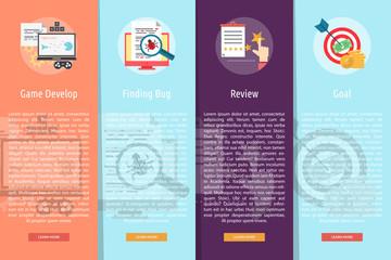 Creative Process Vertical Banner Concept