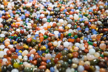 Colorful beads-background