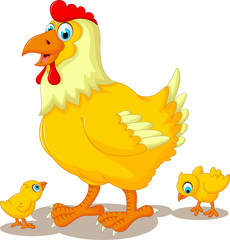 funny  chicken cartoon family