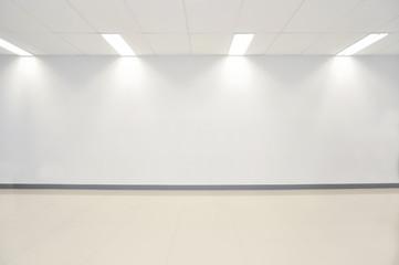 Photo white empty wall contemporary gallery. Modern open space e