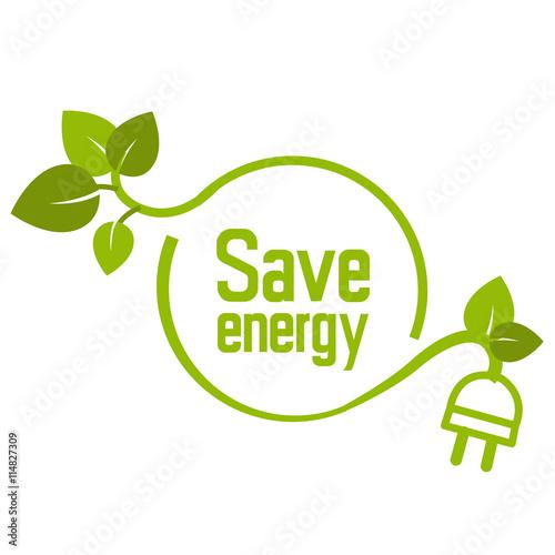 quotsave energy sign logo vectorquot im225genes de archivo y