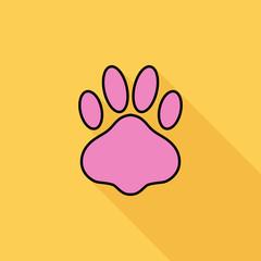 Paw vector flat icon