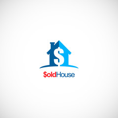 sold house realty business logo