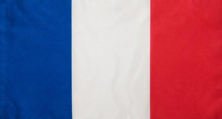 Flag of France on satin texture