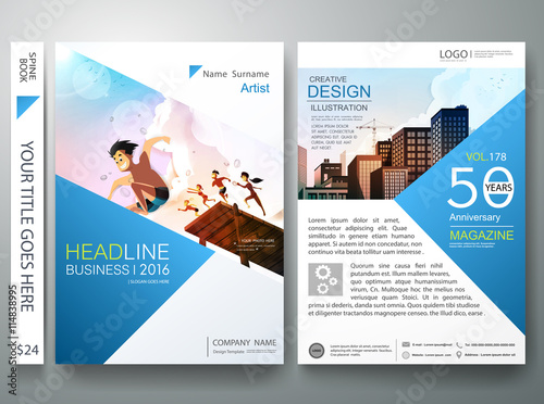 Brochure design template vector flyers report magazine brochure design template vector flyers report magazine poster templatever book portfolio summer cheaphphosting Choice Image