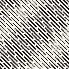 Vector Seamless Black And White Hand Drawn Daigonal Dash Lines Halftone Pattern