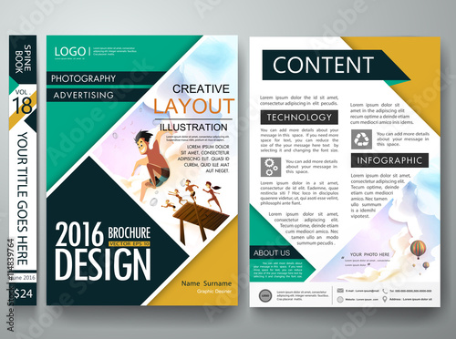 Poster Template | Brochure Design Template Vector Business Flyers Cover Report Summer