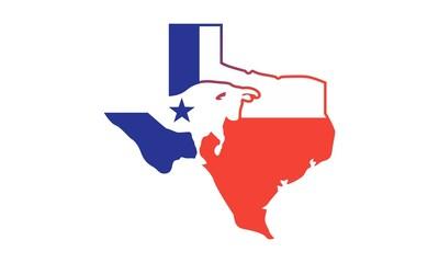 Bull Texas Map Logo Icon