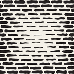 Vector Seamless Black And White Hand Drawn Horizontal Lines Halftone Pattern