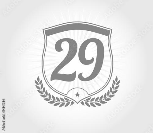 """""""29 shield number design"""" Imágenes de archivo y vectores ..."""