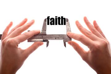 Small faith concept