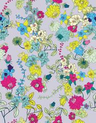 spring seamless flower vector pattern