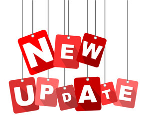 new update, red vector new update, flat vector new update, background new update