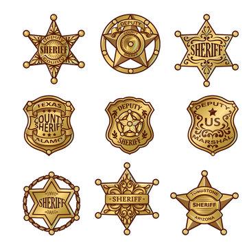 Golgen Sheriff Badges