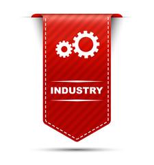ndustry, banner industry, red banner industry, red vector banner