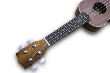 Ukulele hawaiian guitar isolated on white background