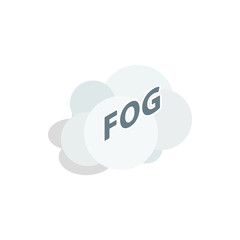 Fog cloud icon in isometric 3d style on a white background