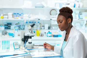 African scientist, medical worker, tech or graduate student