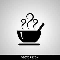 Soup icon isolated on white background. Vector icon.