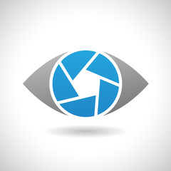 Logo Icon of a Shutter Eye Vector Illustration