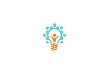 people group creative light bulb logo