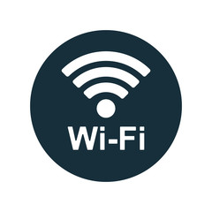 wi-fi point icon on white background