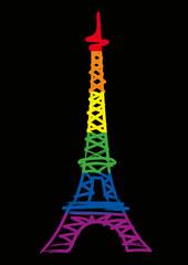 Tour Eiffel - Gay Pride - Homosexualité