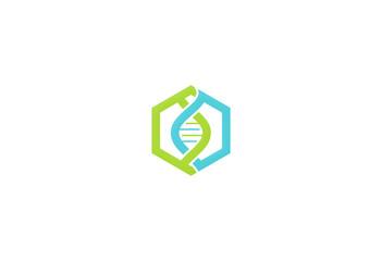 dna human polygon medic logo