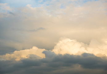 beautiful sunset sky and cloudscape background in nature.