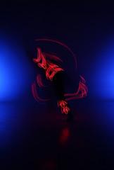 Light Painting Photography. Freezelight photo dancers
