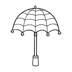 Coloring book for children, umbrella