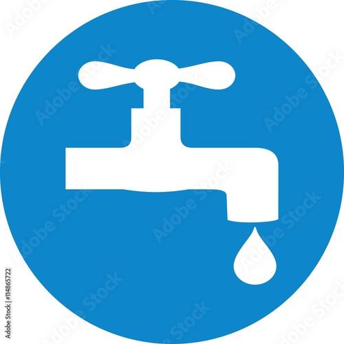 tap water spigot watertap doplet drop faucet icon sign symbol logo ...