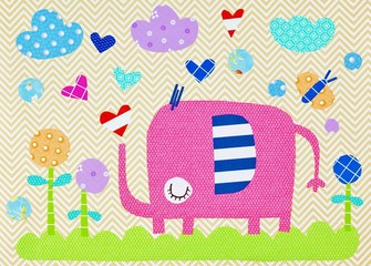 Little elephant. Illustration for children
