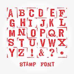 Stamp font sim 3