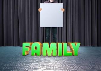Family, 3D Typography