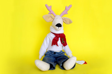 Handmade toy deer