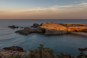 Sunset, Mediterranean, Cabo de Palos. Spain.