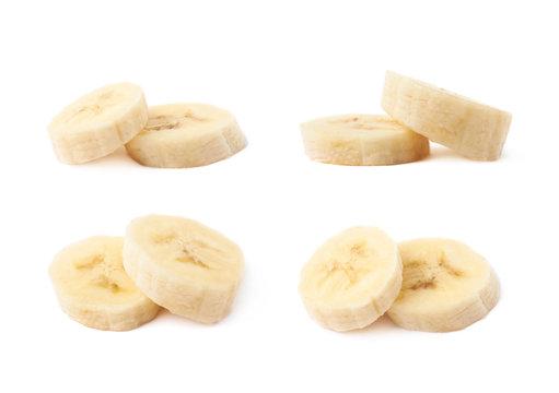 Banana slice isolated